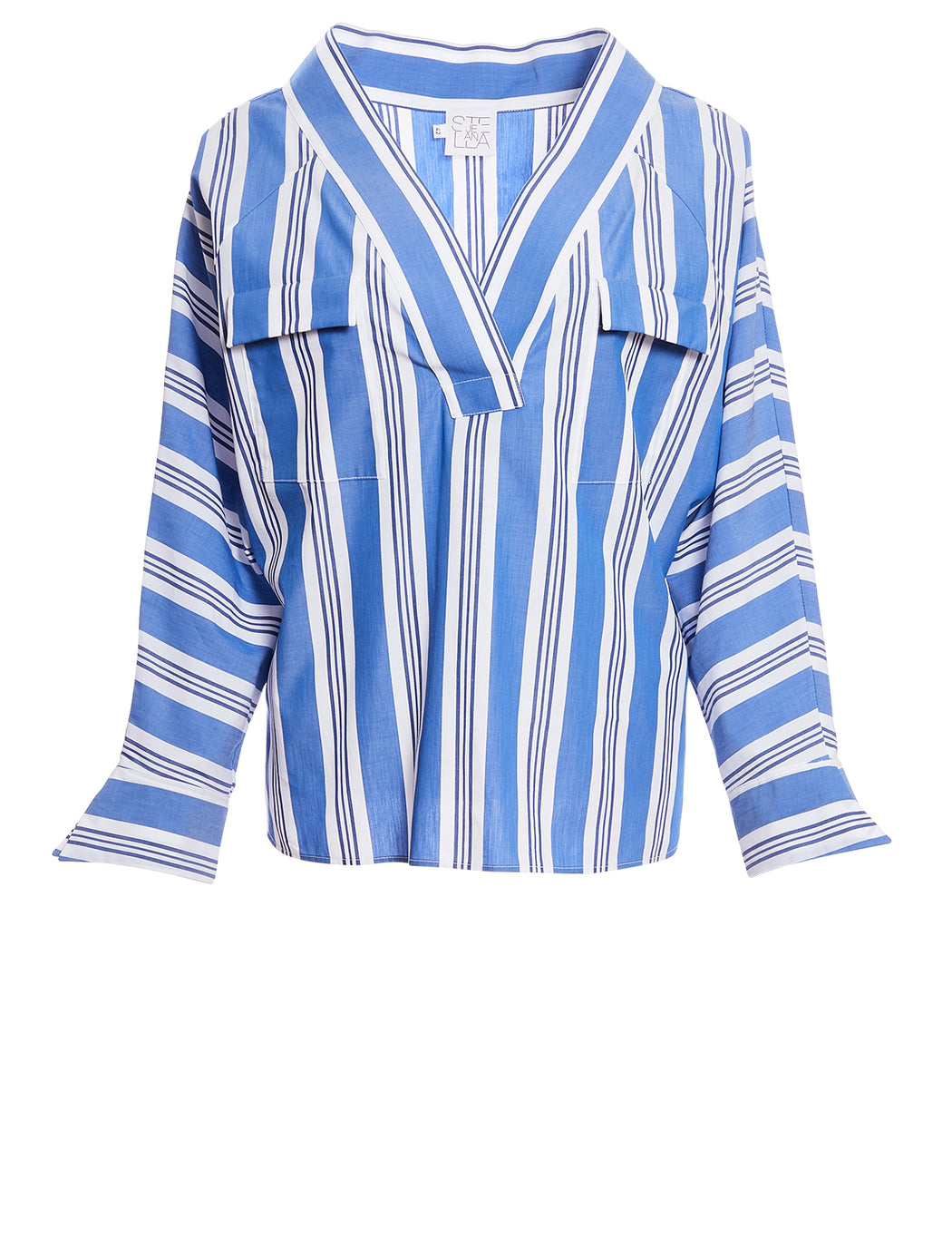 Stripe V Neck Shirt