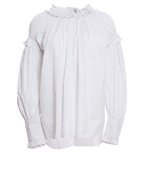 Frill Neck Smock Blouse