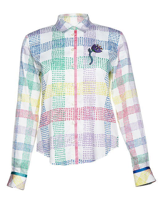 Mira Mikati Multi Check Printed shirt