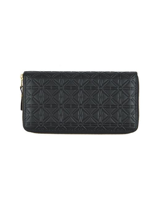 Comme Des Garcons Embossed Continental Wallet