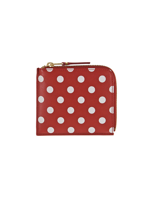 Comme Des Garcons Polka Dot Side Zip Wallet