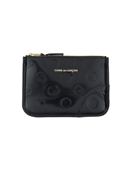 Comme Des Garcons Dots Embossed Small Zip Wallet