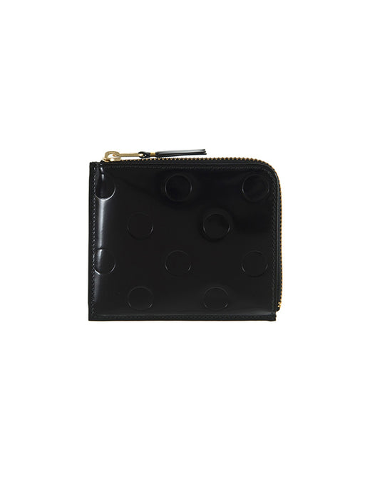 Comme Des Garcons Dots Embossed Side Zip Wallet