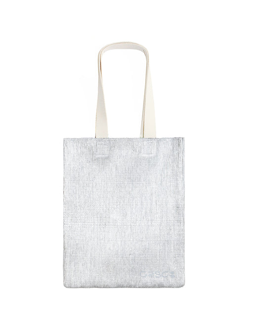Small Simple Silver Tote