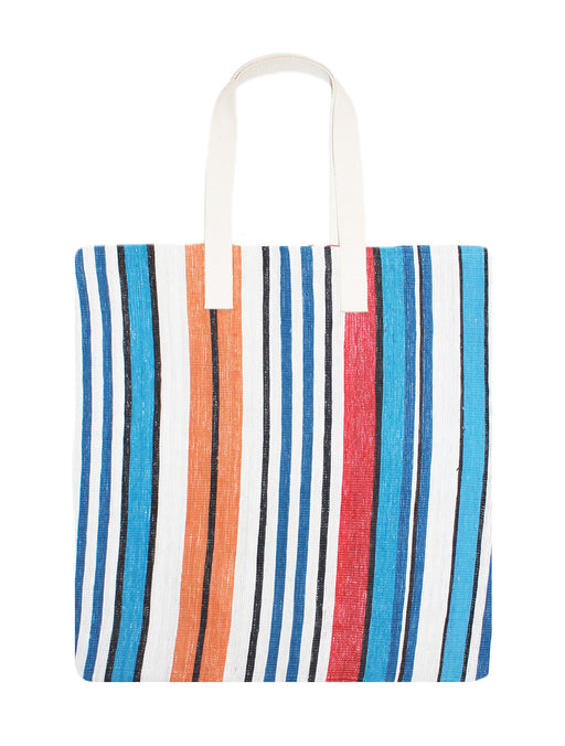 Large Stripe Nylon Tote