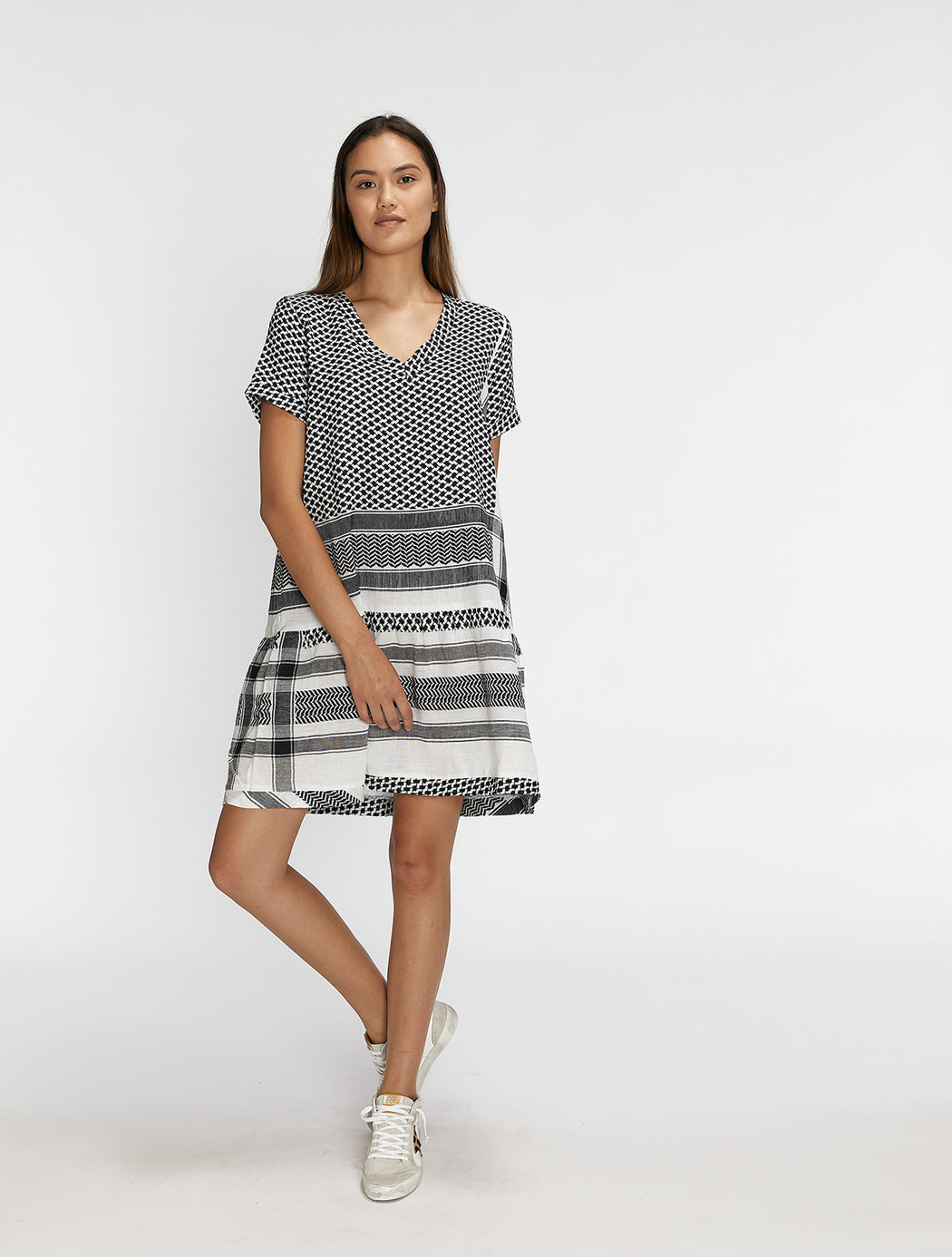 Dress 2 V Short Sleeves