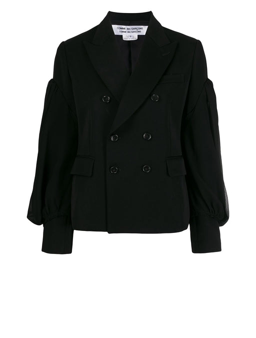 Puff Sleeve Double Breasted Jacket