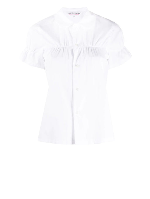 Ruched Button Up Shirt