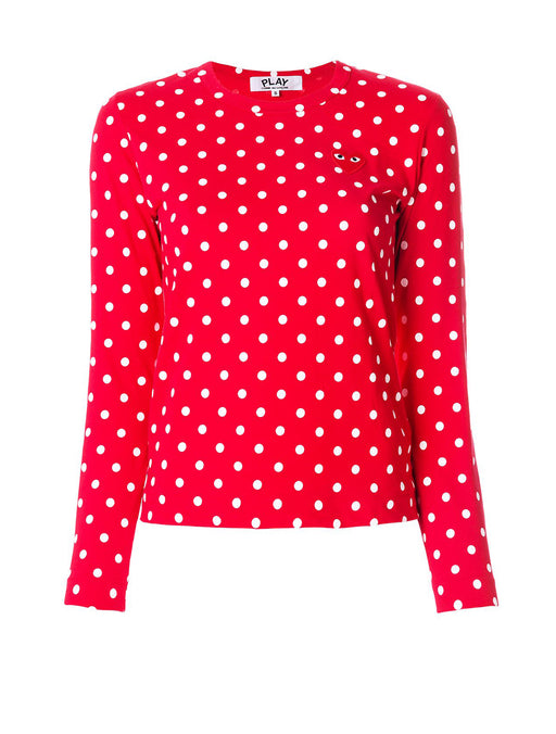 Polka Dot Long Sleeve T-Shirt