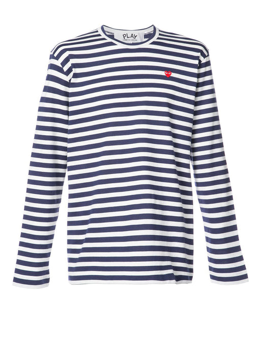 Men's Little Heart Striped Long Sleeve T-Shirt