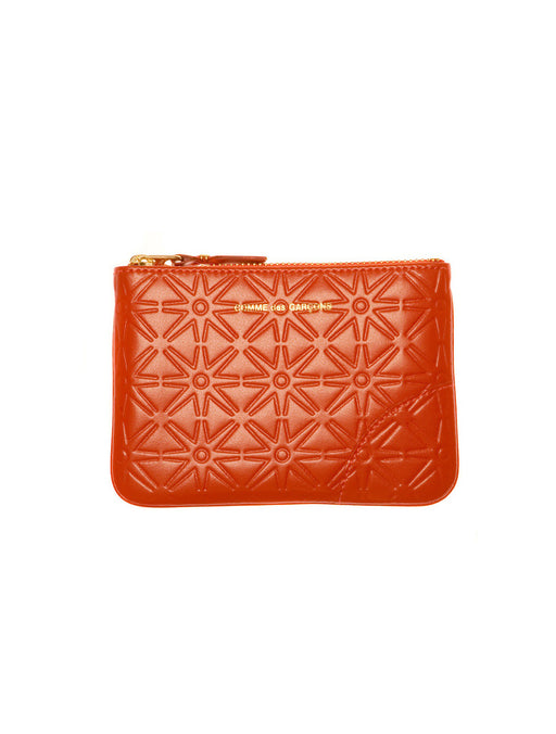 Embossed Small Zip Pouch