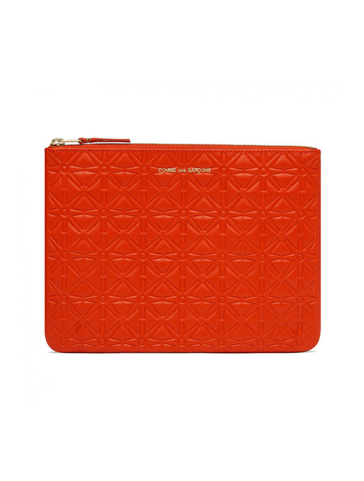Embossed Large Zip Pouch