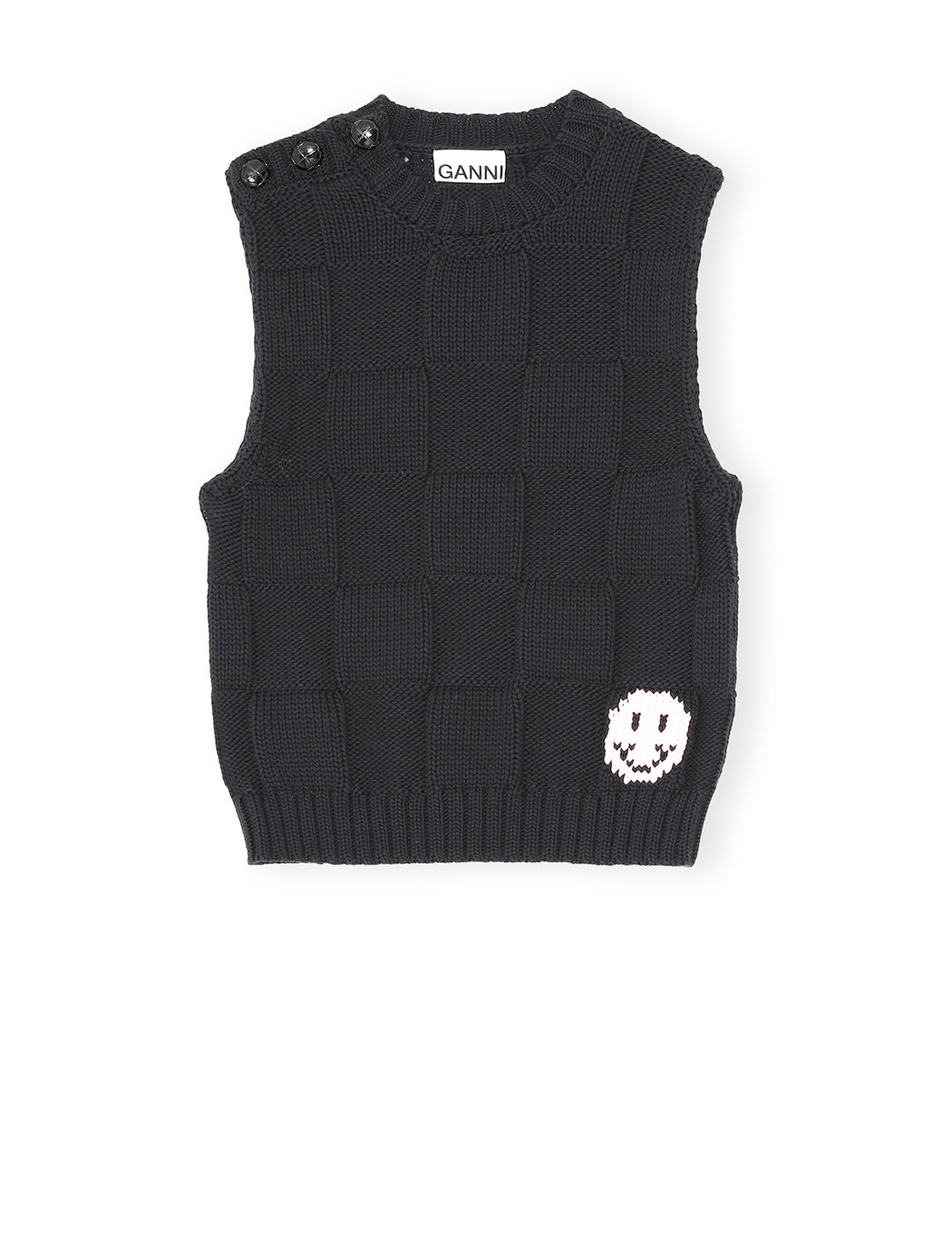 Cotton Robe Knit Vest