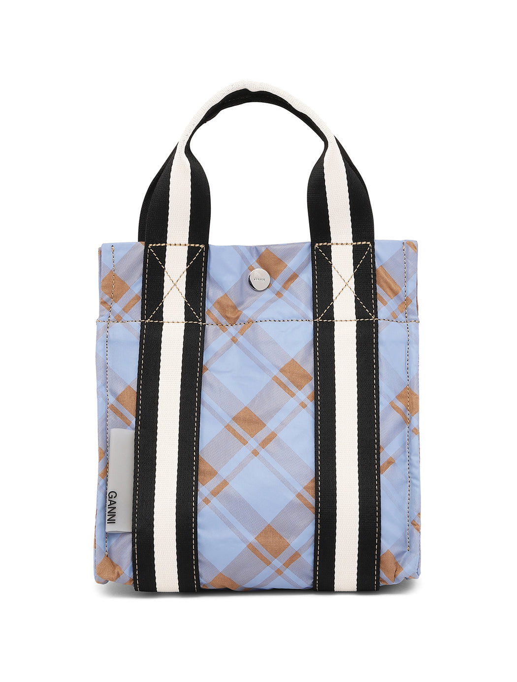 Mini Check Print Tote Bag