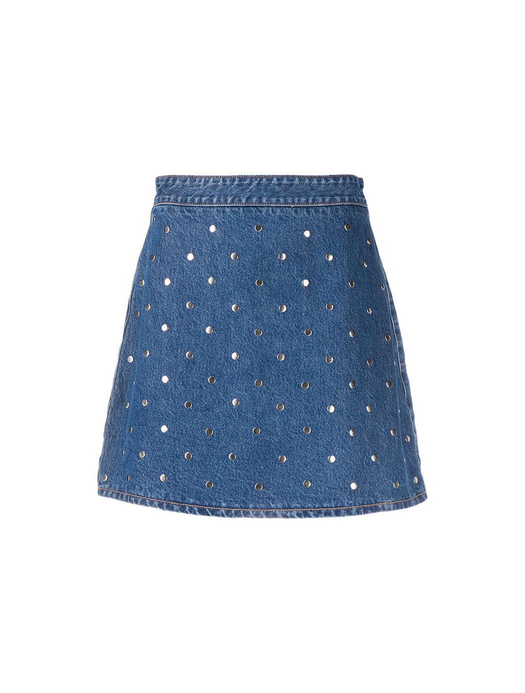 Stud Denim Skirt