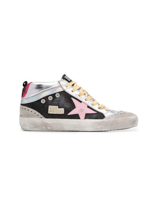 Silver Glitter Mirror Wave Mid Star
