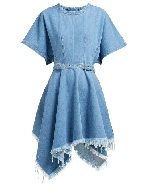 Asymmetric Denim Dress