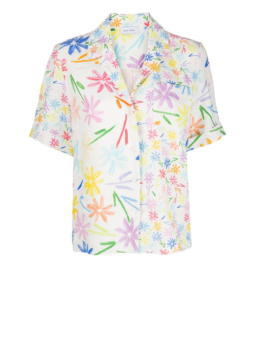 Flower Print Button Shirt
