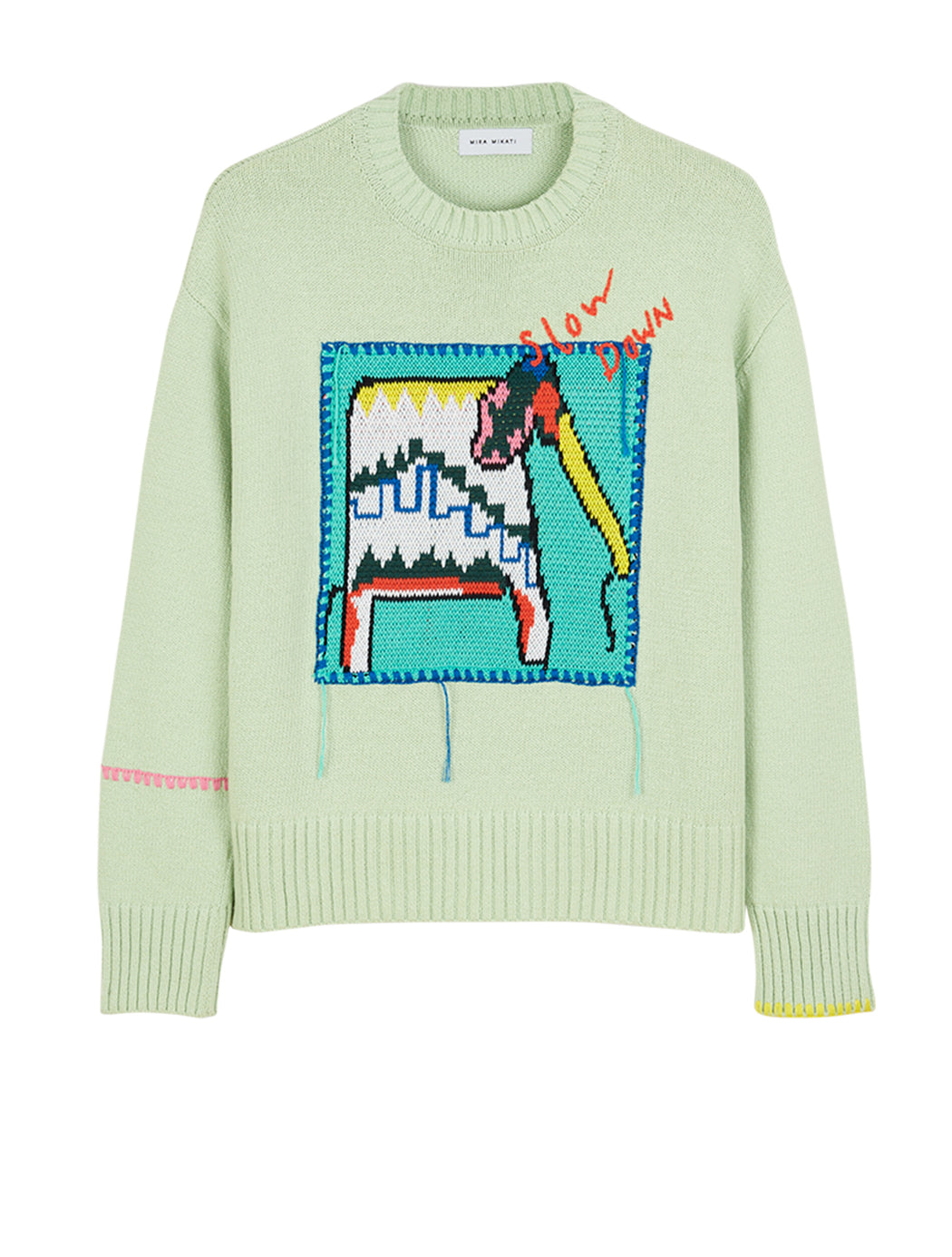 Elephant Patch Knit Sweater