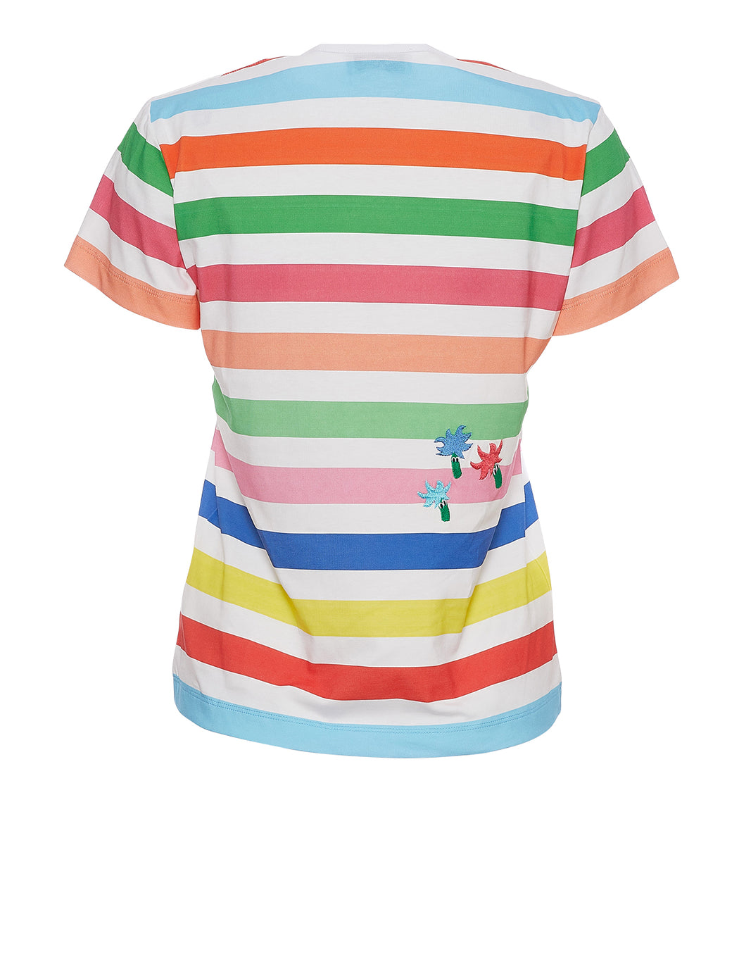 Rainbow Print Embroidered T-Shirt