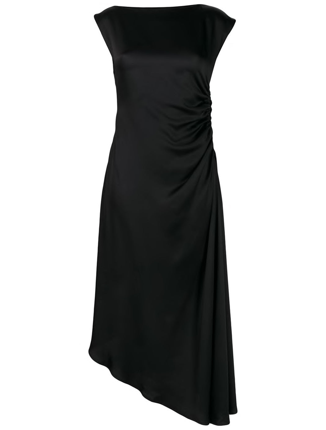 Ruched Side Asymmetric Dress