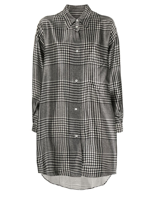 Oversized Prince of Wales Check Shirt Dress