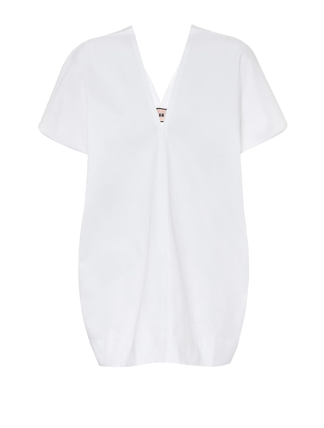 Poplin V-Neck Blouse