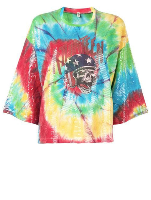 Sequin Tie Dye Daredevil T-Shirt