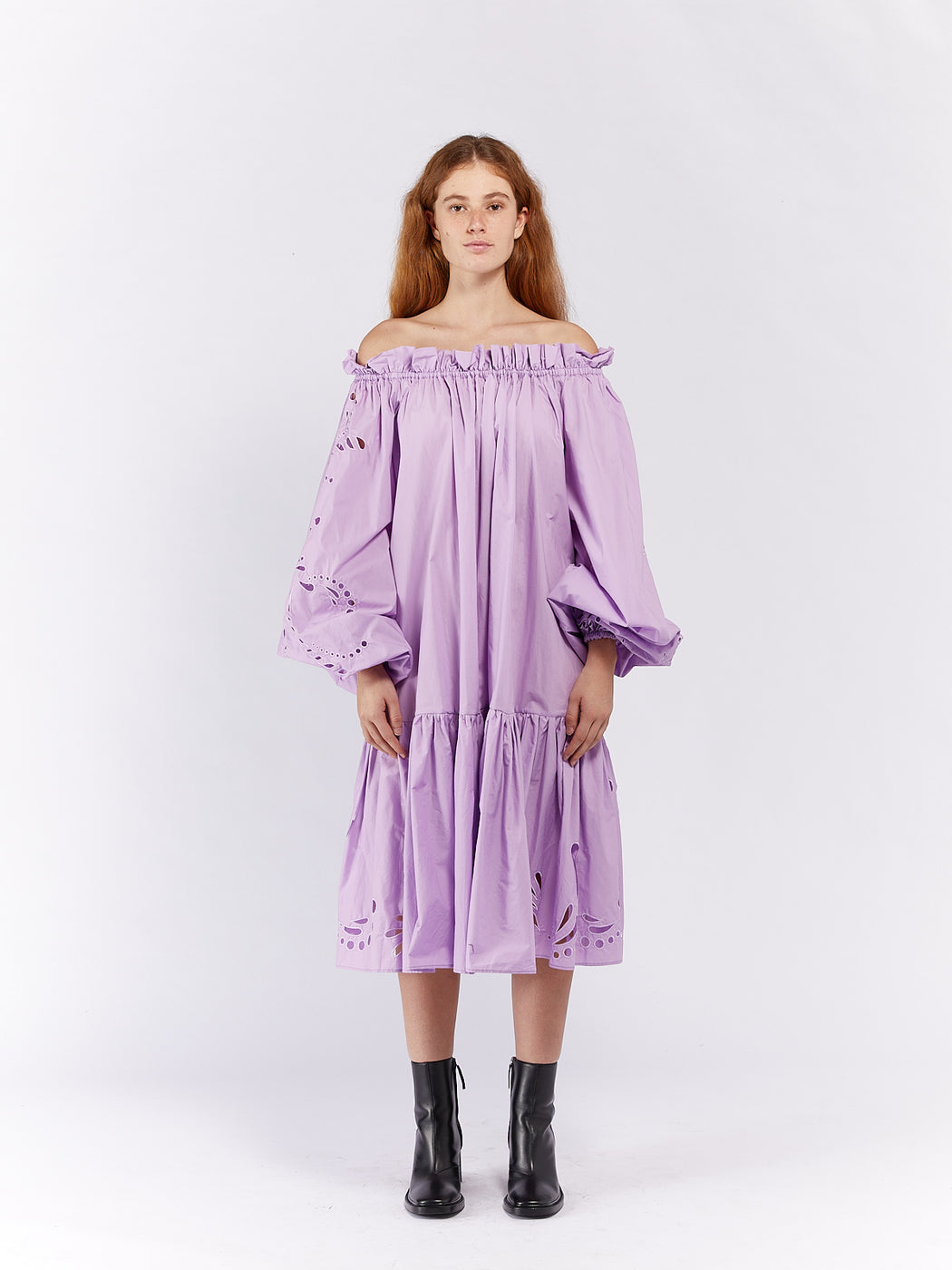 Dreamer Anglaise Gather Smock Dress