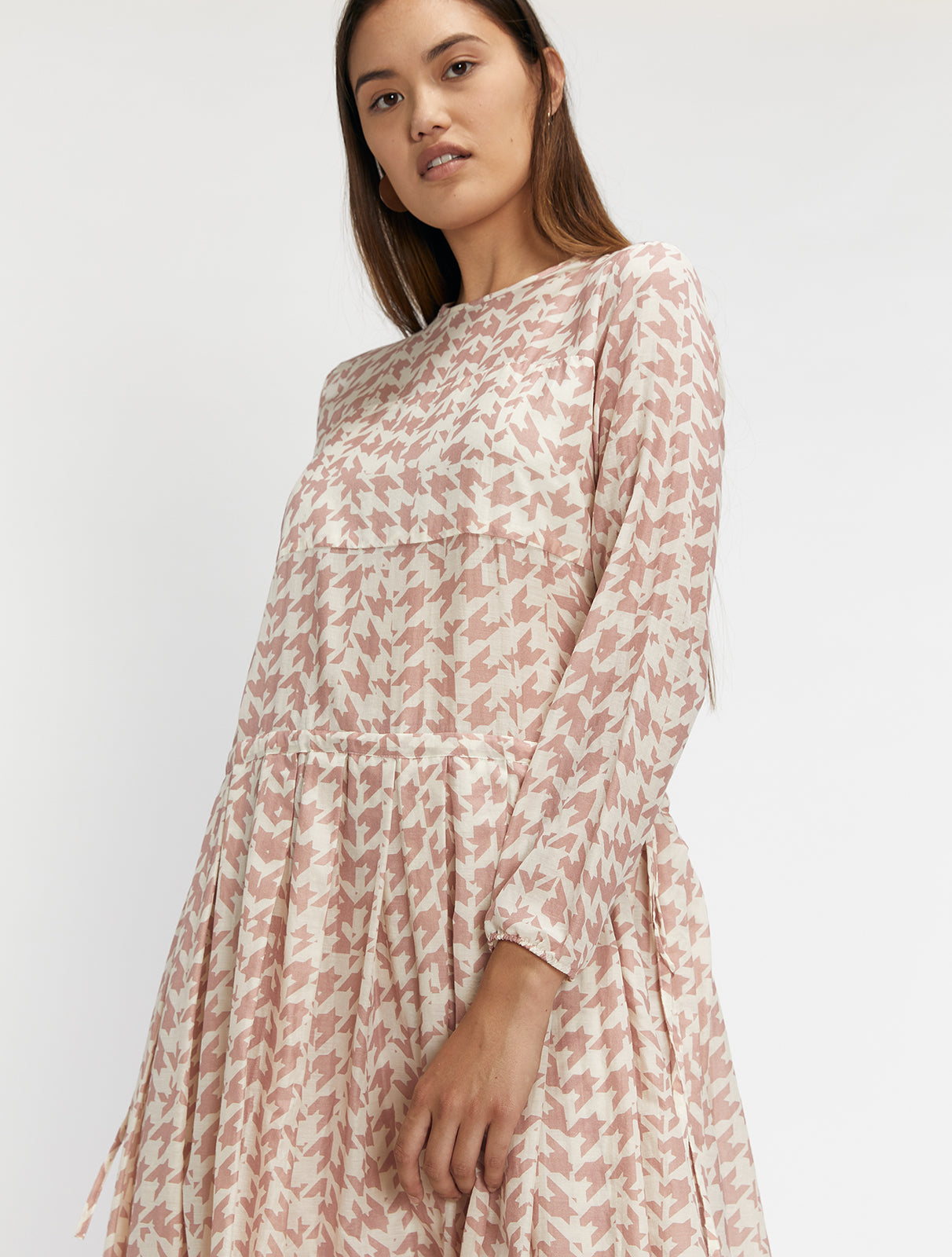 Muslin Pleated Dress
