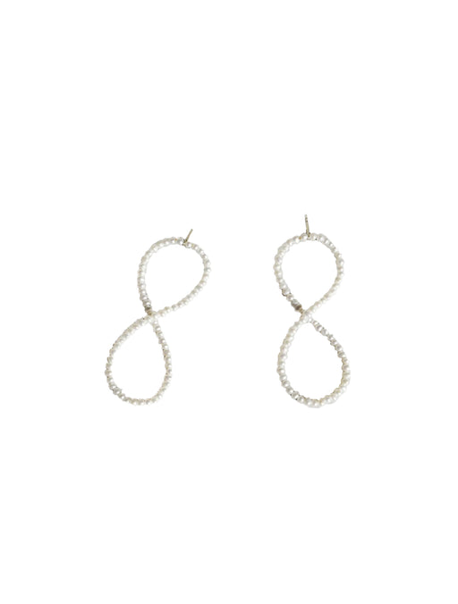 Pearl Infinity Earrings