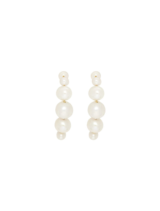 Hugging Drop Pearl Earrings