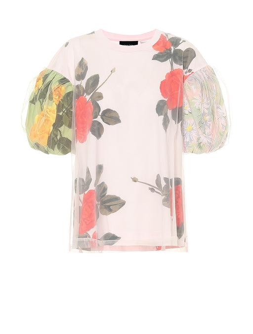 Printed Puff Sleeve T-Shirt