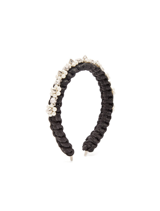 Raffia Beaded Headband