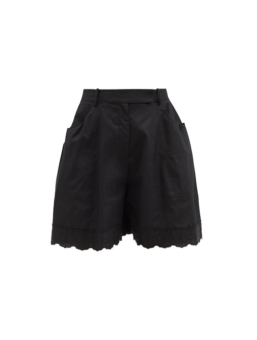 Sculpted Shorts with Trim