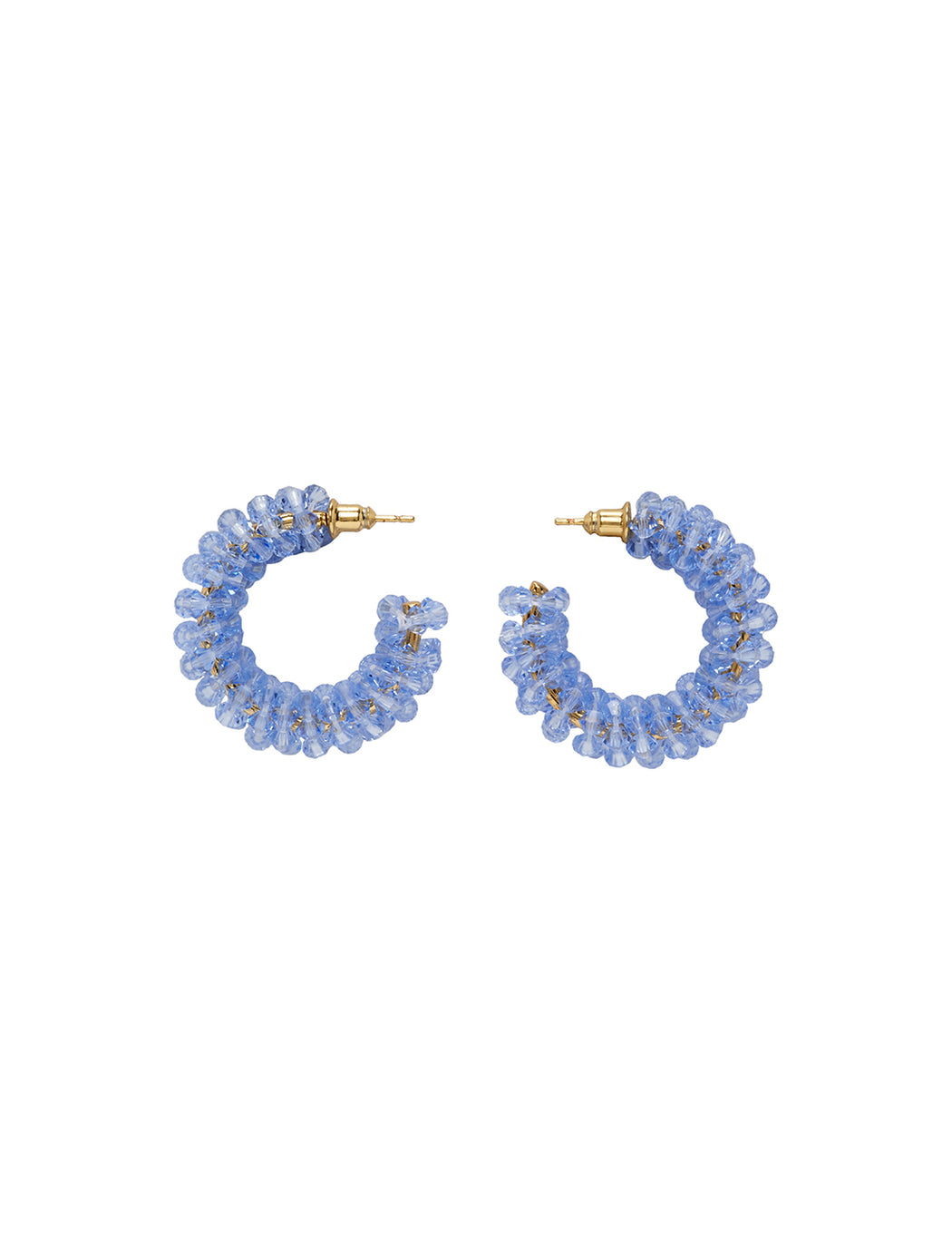 Small Beaded Hoops