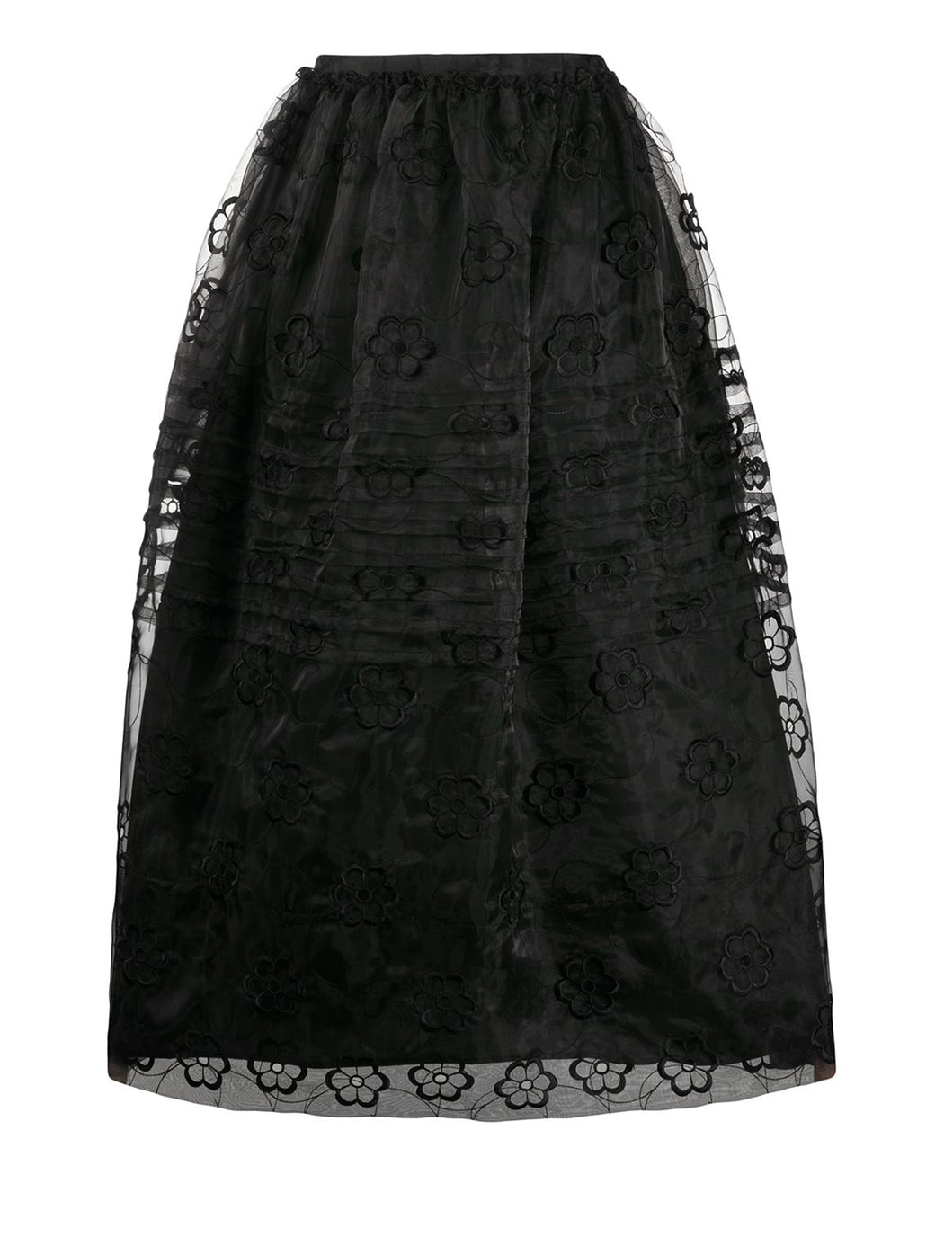 Pleated Organza Skirt
