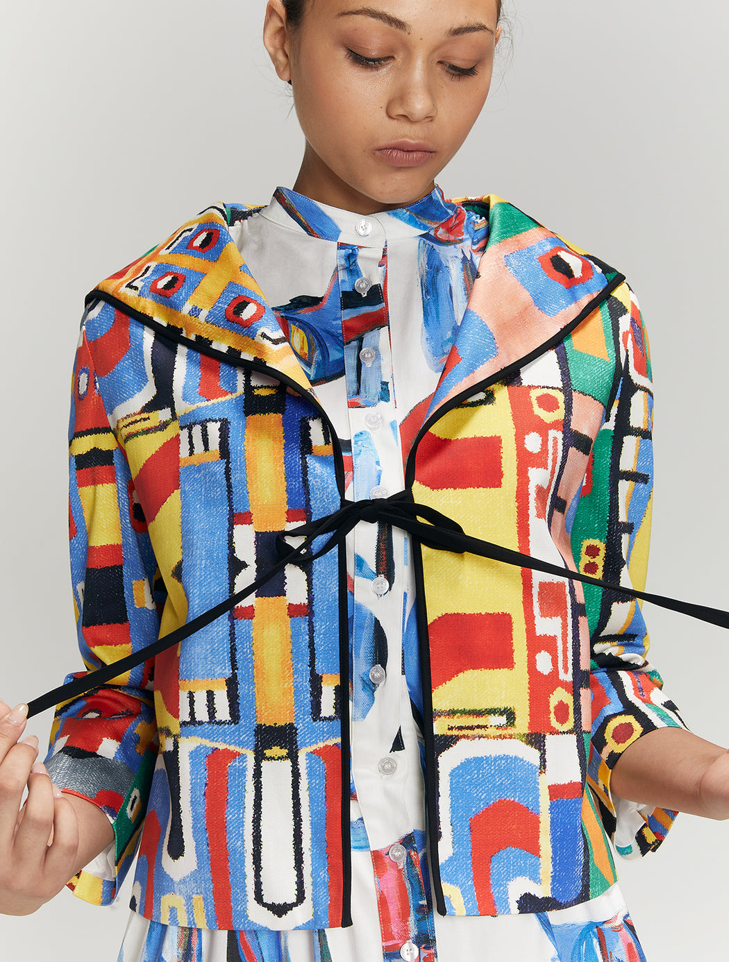 Print Ribbon Jacket