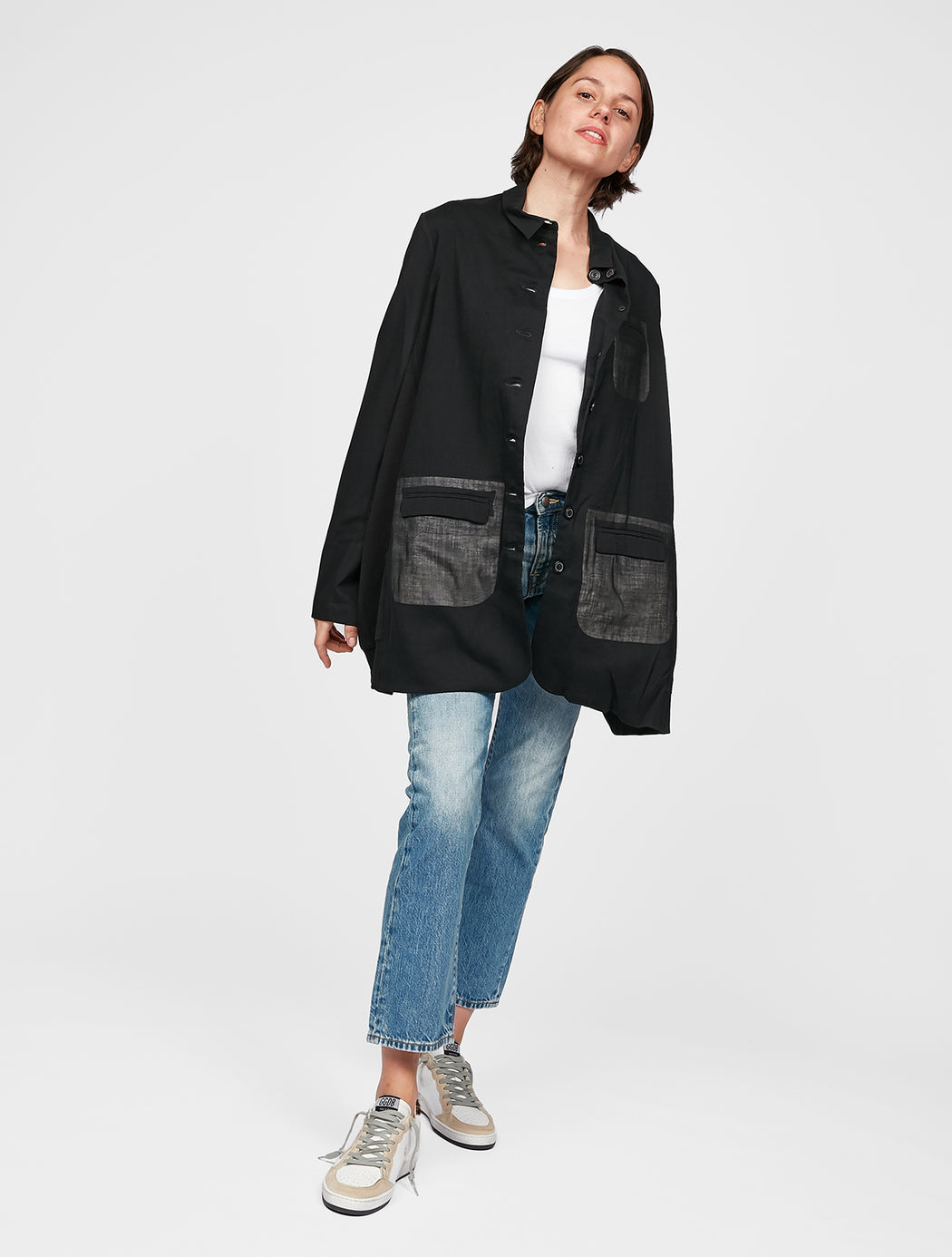 Multi Pocket Front Coat