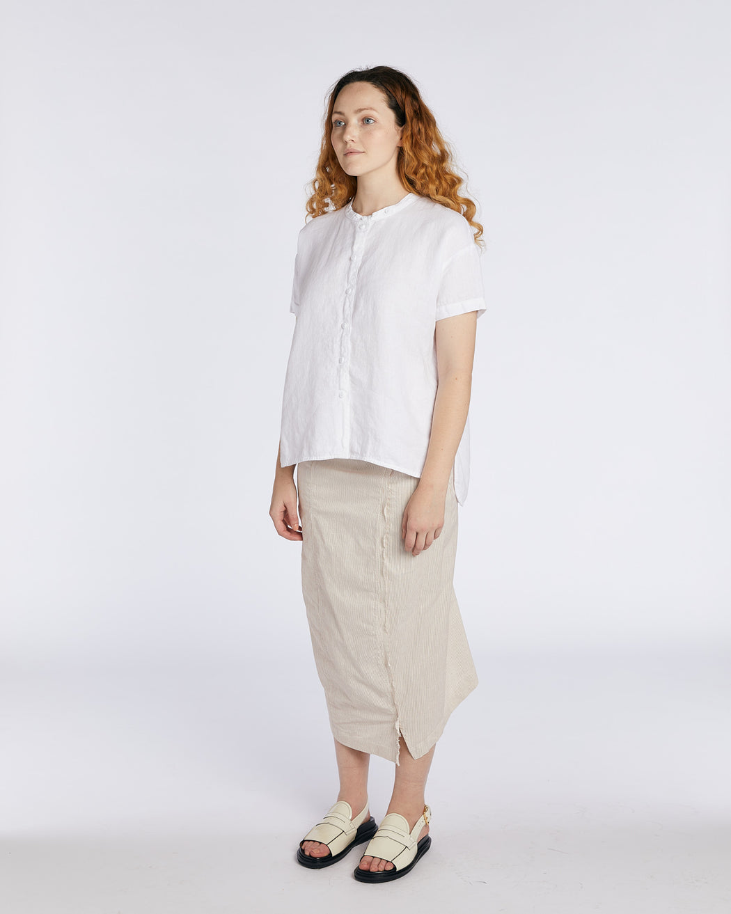 Linen Button Up Blouse