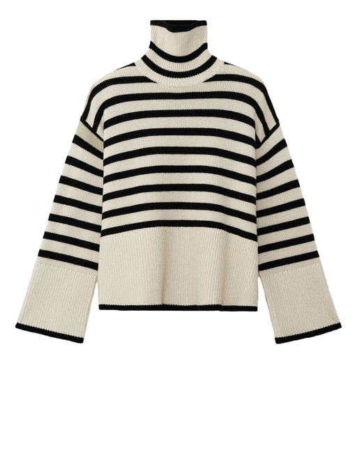 Signature Stripe Turtleneck