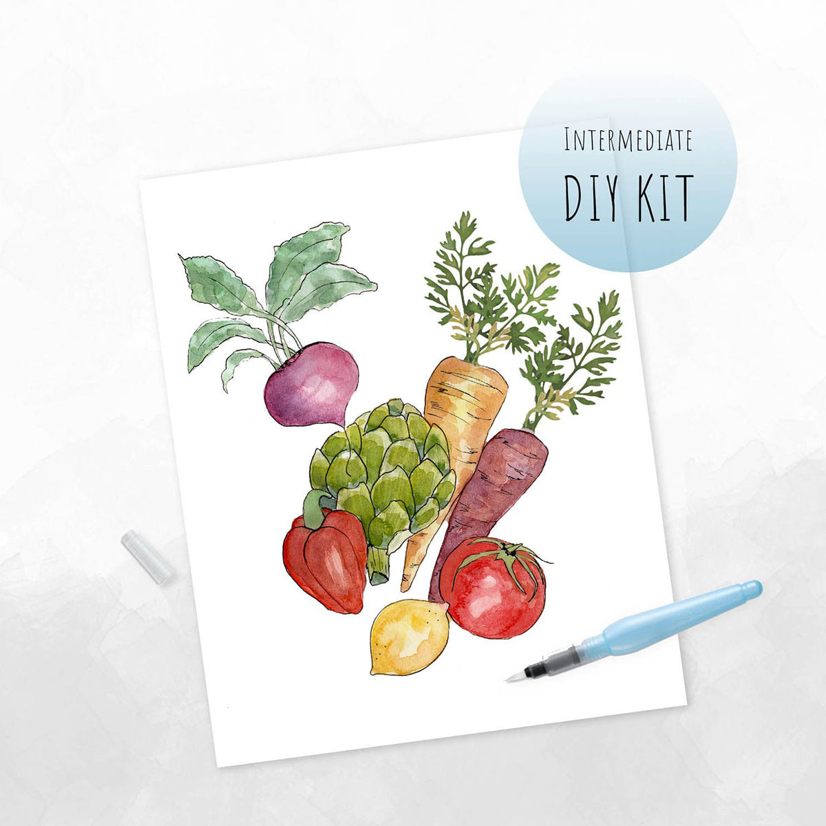 Spring Veggies Watercolor Kit