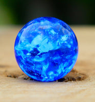 12mm Clear Cracked Blue