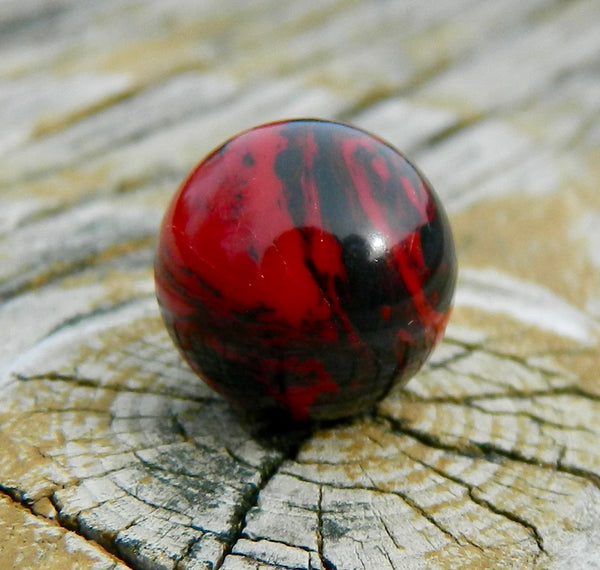 10mm Red/Black Agate