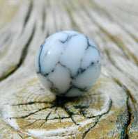 14mm White Marble Howlite
