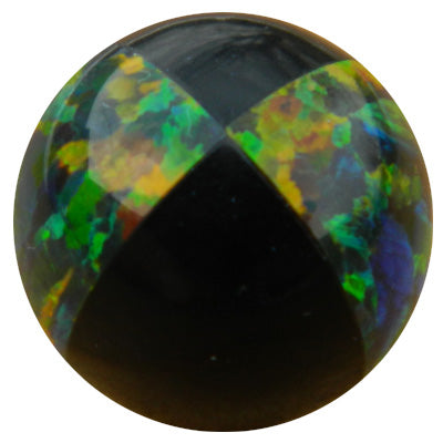 10mm Black Beach Ball Opal