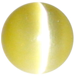 8mm Yellow Cateye
