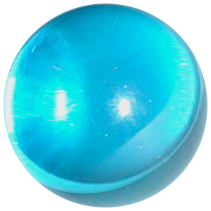 12mm Clear Electric Blue