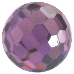 12mm Facet Dark Amethyst CZ