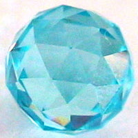 8mm Aquamarine CZ Diamond Cut
